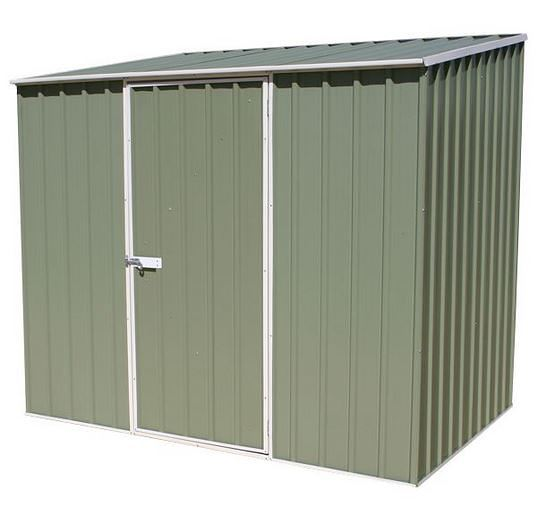 7' 5 x 5' Waltons Pale Eucalyptus Easy Build Pent Metal Shed