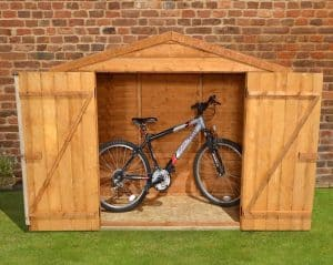 7' x 3' Store-Plus Overlap Bike Shed Front View