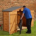 7' x 3' Store-Plus Overlap Bike Shed Right Side View