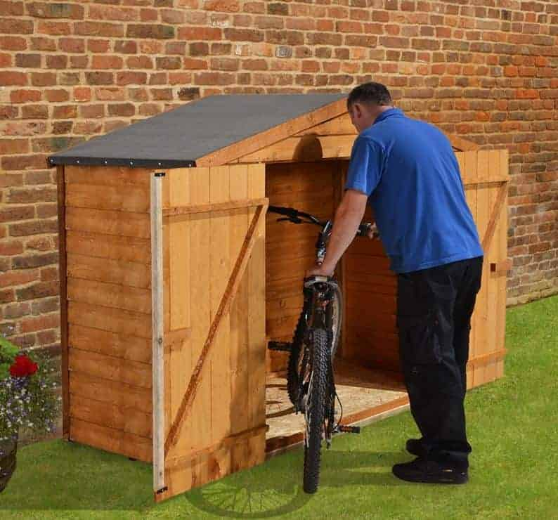 Garden Sheds 7 X 3 7' x 3' store-plus overlap bike shed - what shed