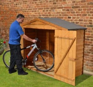 7' x 3' Store-Plus Overlap Bike Shed Side View