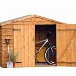 7' x 3' Store-Plus Overlap Bike Shed Single Door Open