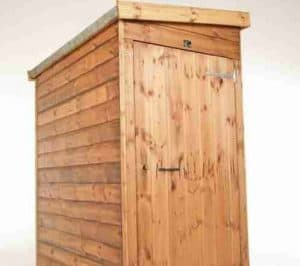 7' x 3' Traditional Pent Tool Store Shed Close Door