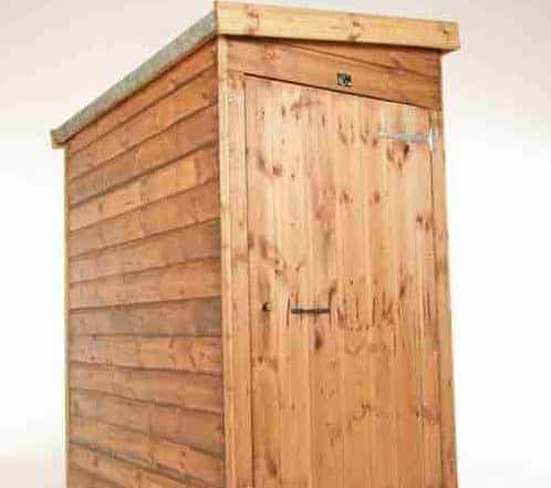 7 X 3 Traditional Pent Tool Store Shed Close Door