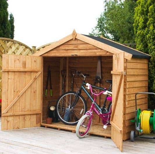 7 x 3 waltons overlap apex wooden bike shed what shed. Black Bedroom Furniture Sets. Home Design Ideas