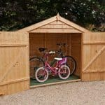7' x 3' Windsor Overlap Wooden Bike Store  Shed
