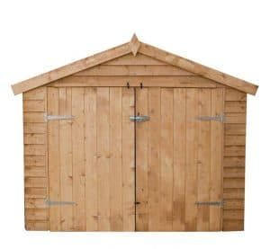 7' x 3' Windsor Overlap Wooden Bike Store Shed Double Door Closed