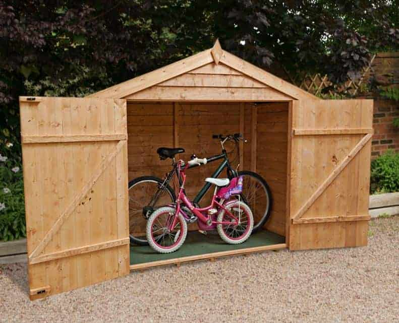 x windsor overlap wooden bike store shed what shed - Garden Sheds 7 X 3