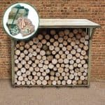7' x 3' Xtra Large Easy Access Sherwood Log Store Front