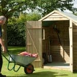 7' x 5' Shed-Plus Pressure Treated Overlap Apex Shed Double Open Doors