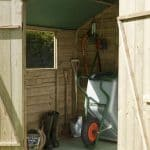 7' x 5' Shed-Plus Pressure Treated Overlap Apex Shed Open Doors
