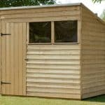 7' x 5' Shed-Plus Pressure Treated Overlap Pent Shed