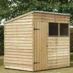 7' x 5' Shed-Plus Pressure Treated Overlap Pent Shed Single Door Closed