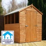 7 x 5 Tongue & Groove Apex Shed Sustainable Homes Code Compliant