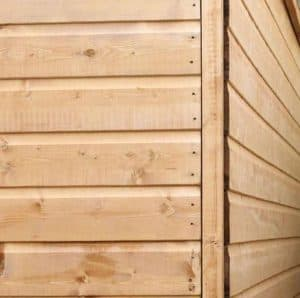 7 x 5 Tongue & Groove Windowless Apex Shed Sustainable Homes Compliant Overlap Cladding