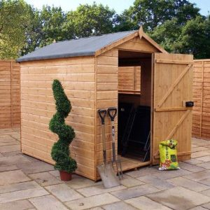 7 x 5 Waltons Groundsman Tongue and Groove Apex Garden Shed side view