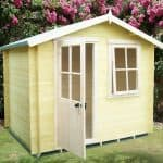 7' x 7' Avesbury 19mm Log Cabin