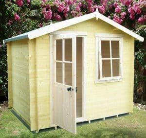 7' x 7' Avesbury 19mm Log Cabin