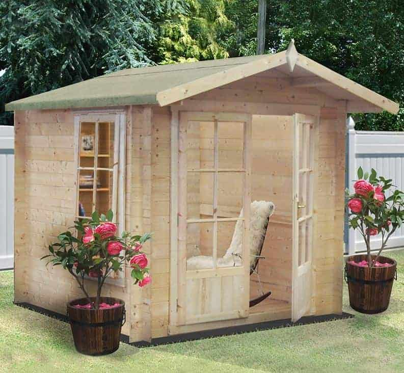 7' x 7' Barnsdale 19mm Log Cabin