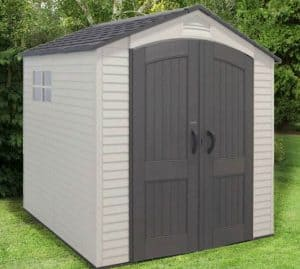 7' x 7' Lifetime Heavy Duty Plastic Shed
