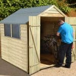 7' x 7' Shed-Plus Pressure Treated Overlap Shed