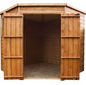 7 x 7 Waltons Tongue and Groove Wooden Corner Shed front