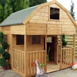 7' x 7' Windsor Double Storey Dutch Barn Playhouse with Veranda