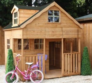 7' x 7' Windsor Primrose Playhouse with Dorma Window Front View