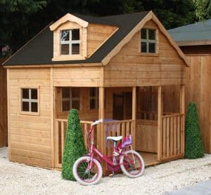 7' x 7' Windsor Primrose Playhouse with Dorma Window Side View
