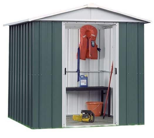 This 7 X 8 Apex Metal Garden Shed Is Very Easy To Construct And Install. On  Top Of That It Has Been Created Using Hot Dipped Galvanised Steel.