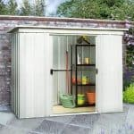 7'10 x 3'11 Yardmaster Pent Metal Shed 84PZ+ With Floor Support Kit