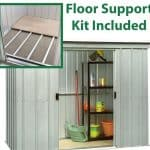7'10 x 3'11 Yardmaster Pent Metal Shed 84PZ+ With Floor Support Kit Included
