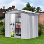 7'10 x 6'8 Yardmaster Silver Metal Shed 68ZGEY+ With Floor Support Kit