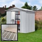 7'10 x 6'8 Yardmaster Silver Metal Shed 68ZGEY+ With Floor Support Kit 2