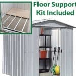 7'10 x 6'8 Yardmaster Silver Metal Shed 68ZGEY+ With Floor Support Kit Included