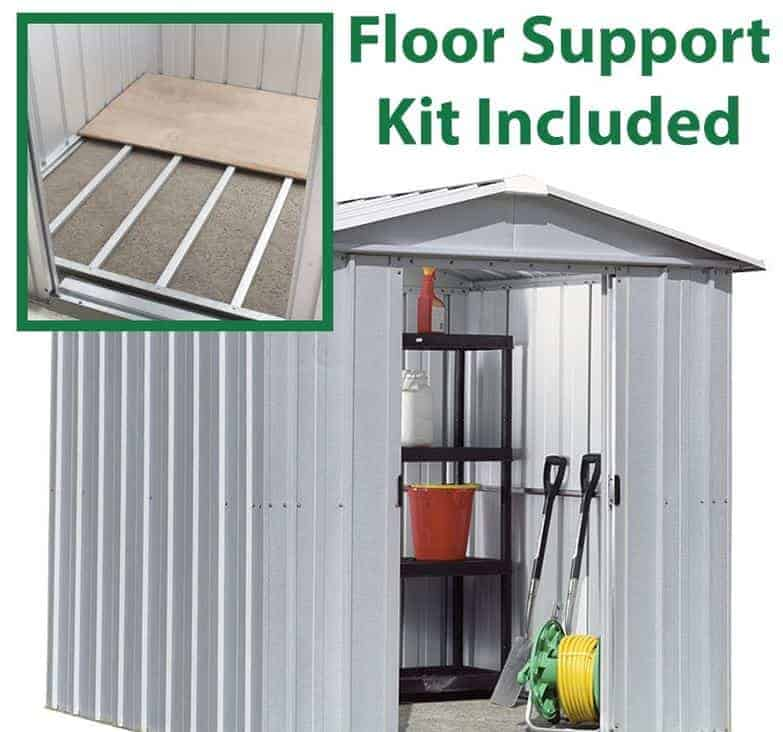 7 10 X 6 8 Yardmaster Silver Metal Shed 68zgey With Floor