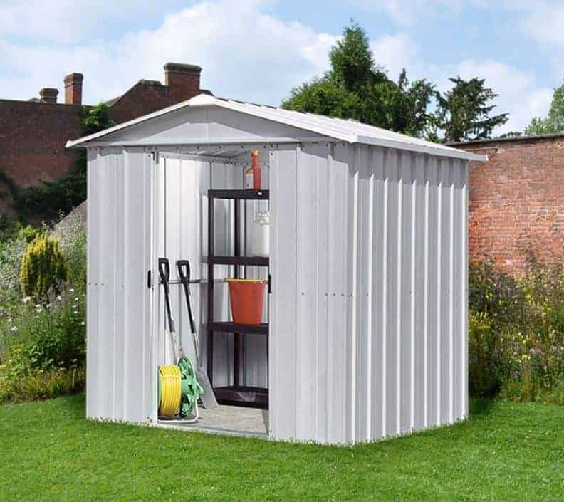 7u002710 X 6u00278 Yardmaster Silver Metal Shed 68ZGEY+ With Floor Support Kit
