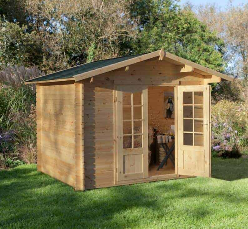 7'2 x 7'2 Berkshire Brimpton Log Cabin