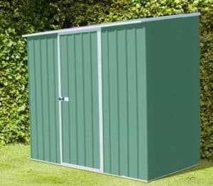 7'5 x 2'7 Absco Easy Store 2PE Green Metal Shed