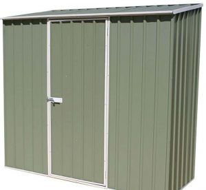 7'5 x 2'7 Absco Easy Store 2PE Green Metal Shed Light Green Color