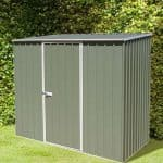 7'5 x 5' Absco Storemaster 2PE Green Metal Shed