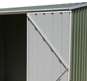 7'5 x 5' Absco Storemaster 2PE Green Metal Shed Cladding