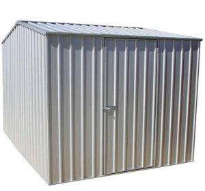 7'5 x 9'10 Absco Premier 2ZA Zinc Metal Shed Overall