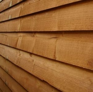 7x3 Waltons Overlap Apex Wooden Bike Shed Cladding