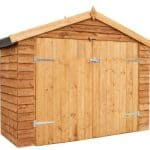 7x3 Waltons Overlap Apex Wooden Bike Shed Closed Door