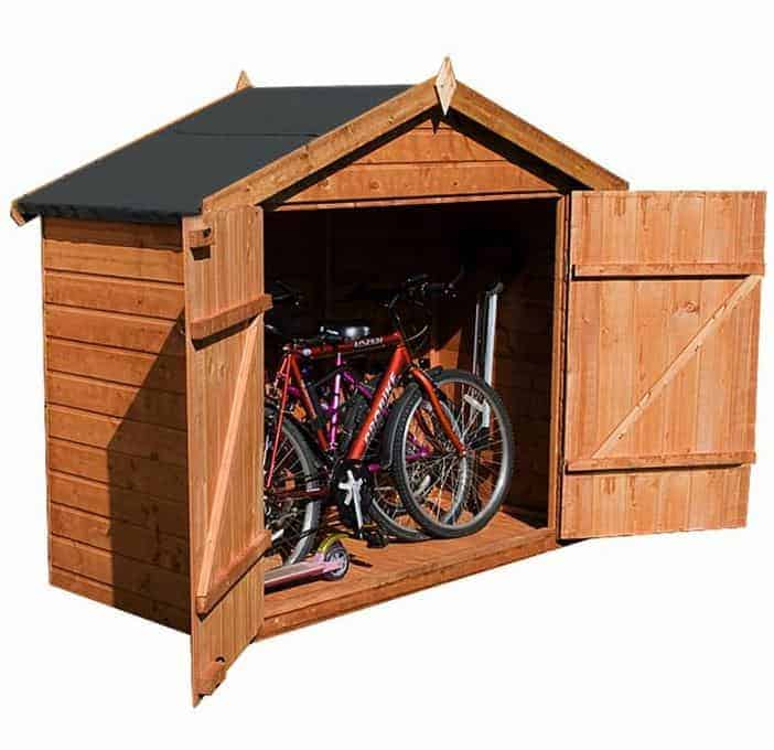 7 x 3 waltons tongue and groove apex wooden bike shed for Motorcycle storage shed