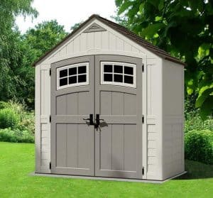 7'x4' Suncast Cascade Shed Side View