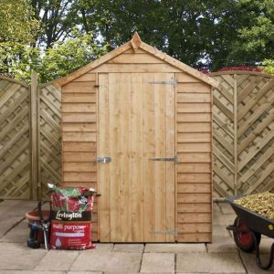 7x5 Waltons Overlap Apex Wooden Shed Front View