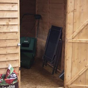 7x5 Waltons Overlap Apex Wooden Shed Internal View