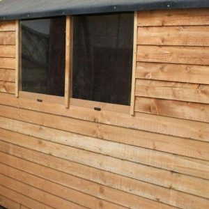 7x5 Waltons Overlap Apex Wooden Shed Windows
